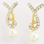 Pearl Diamond Earings- Earf91509