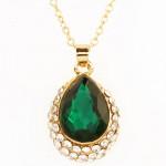 Green Stone Diamond Pendant