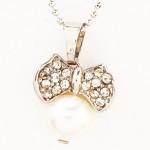 Bow Pearl Pendant