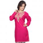 Pink 1422 Kashmiri Tunik