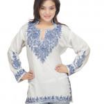 White 3092 Kashmiri Kurti