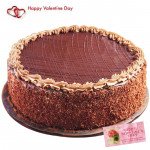 Big Truffle Cake - 1.5 Kg Chocolate Truffle Cake & Valentine Greeting Card
