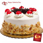 Royal Cake - 1 Kg Butter Scotch Cake (Five Star Bakery) & Valentine Greeting Card
