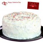 Vanilla Time - 1 Kg Vanilla Cake & Valentine Greeting Card