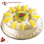 Pineapple Yum - 1 Kg Pineapple Cake & Valentine Greeting Card