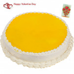 Big Pina Time - 1.5 Kg Pineapple Cake & Valentine Greeting Card