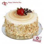 Big Butterscotch - 2 Kg Butterscotch Cake & Valentine Greeting Card