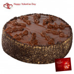 Big Choco Treat - 2 Kg Chocolate Cake & Valentine Greeting Card