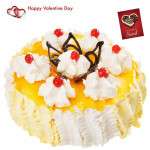 Pina Royalty - 2 Kg Pineapple Cake (Five Star Bakery) & Valentine Greeting Card