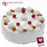 Luxury Of Pineapple - 1.5 Kg Pineapple Cake (Five Star Bakery) & Valentine Greeting Card