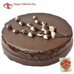 Truffle Luxury - 1.5 Kg Chocolate Truffle Cake (Five Star Bakery) & Valentine Greeting Card
