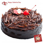 Five Star Truffle - 1 Kg Chocolate Truffle Cake (Five Star Bakery) & Valentine Greeting Card