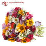 Lovely Bouquet - 20 Carnations Bouquet + Card