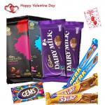 Chocolate Gifts - 2 Bournville, 2 Cadbury Dairy Milk, 2 Perk, 2 Five Star, Gems and Card