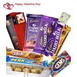 Jumbo Treat - Ferrero Rocher 4 pcs, Temptations, Bournville, Perk, 5 Star, Cadbury Dairy Milk, Cadbury Dairy Milk Fruit n Nut, Cadbury Dairy Milk Crackle, Gems and Card