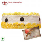 Best of Wishes - Pineapple Cake (Eggless) 2 Kg + Card