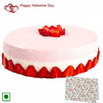 For My Love - Strawberry Delight (Eggless) 1 Kg + Card