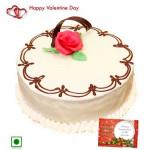 Affectionate Treat - Vanilla Cake (Eggless) 1 Kg + Card