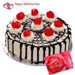 Five Star Cake - Black Forest Cake 1 Kg + Card