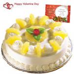Five Star Cake - Pinapple Cake 1 Kg + Card