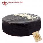 Five Star Cake - Chocolate Truffle Cake 2 Kg + Card
