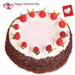 Five Star Cake - Strawberry Cake 1 Kg + Card