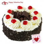 Regards for You - Black Forest Cake 1 Kg + Card