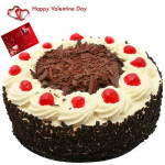 Love Filled Treat - Black Forest Cake 2 Kg + Card