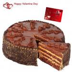 Wishes forYou - Chocolate Cake 1 Kg + Card