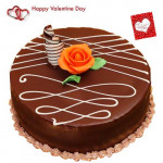 Chocolaty Love - Chocolate Cake 1.5 Kg + Card