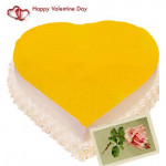 Relishable Treat - Pineapple Heart Cake 1 Kg + Card