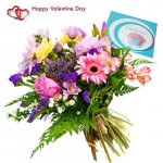 Delicate Love - 12 Mix Roses & 12 Gerberas + Card