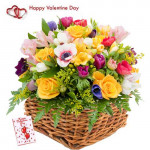 Expressions - 25 Seasonal Flowers Basket + Card