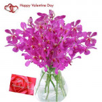 Beautiful Orchids - 12 Orchids in Vase + Card