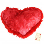 "Valvety Red Heart Soft Toy - 6"" X 10"" (Approx )"