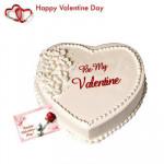 Delicious Vanilla - Vanilla Heart Shaped Cake 1 kg + Valentine Greeting Card