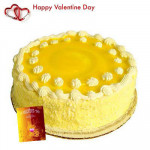 Pineapple Treat - Pineapple Cake 2 kg + Valentine Greeting Card
