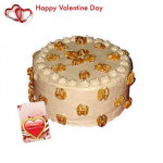 Butterscotch Cake - Butterscotch Cake 1 kg + Valentine Greeting Card