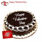 Yummy Chocolate Truffle - Chocolate Truffle Cake 2 kg + Valentine Greeting Card