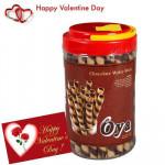 Oya Choco Rolls - Oya Premium Choco Rolls 288 gms + Valentine Greeting Card