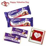 Cadbury Treat - 2 Dairy Milk 40 gms + 2 Cadbury Fruit & Nuts + Valentine Greeting Card