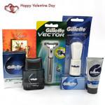 Gratitude - Gillette Series Shave Gel, Gillette Vector Razor, Gillette Shave Brush, Gillette Series After Shave Splash and Card