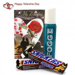 Fogg N Snicker - Fogg Deo, 2 Snickers and Card