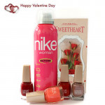 Nike & Lakme - Nike Deo, 4 Lakme Nail Paints and Card