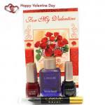 Touch Up - Lakme Kajal Pencil, Lakme Liner, Lakme Nail Polish, Lakme Nail Polish Remover and Card