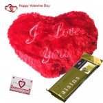 Tempting Heart - Heart Shape Pillow, Cadbury Temptations & Valentine Greeting Card