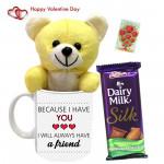 Chocolaty Mug - Because I Love You Love Mug, Teddy 6 inch, Dairy Milk Silk & Card