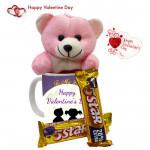 5 Star Mug - Happy Valentines Day Mug, Teddy 6 inch, 2 Five Star & Card