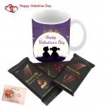 Dark Choco Mug - Happy Valentines Day Mug, 3 Bournville & Card