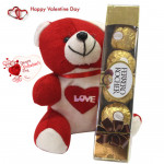 Ferrero Fun - Teddy 8 inch, Ferrero Rocher 4 Pcs & Card